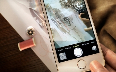 The Burberry collection seen with an iPhone 5S
