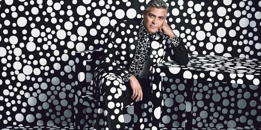 George Clooney by Yayoi Kusama for W Mag
