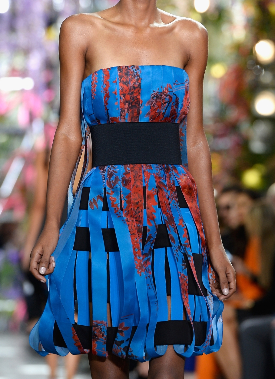 Dior lantern dress