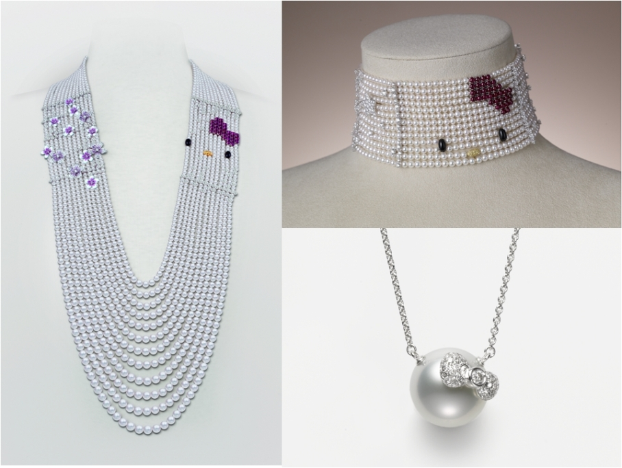 Mikimoto X Hello Kitty neck wear