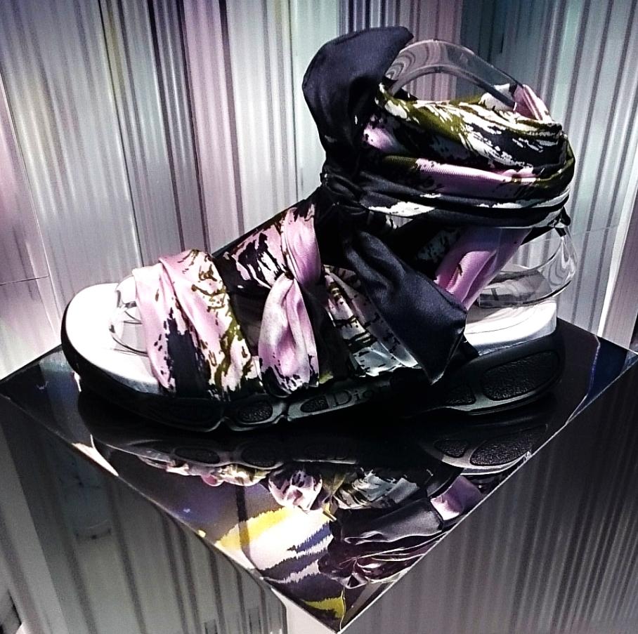 Dior cruise 2015 scarf-sandals