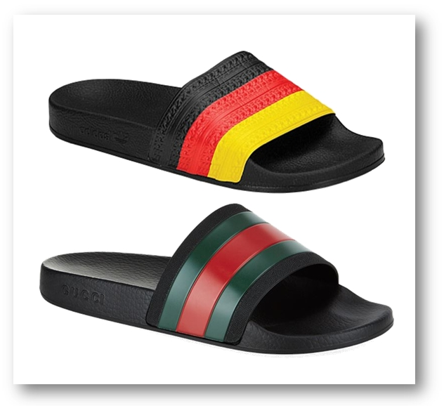 Adidas vs Gucci slides