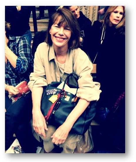 Jane Birkin with her namesake bag