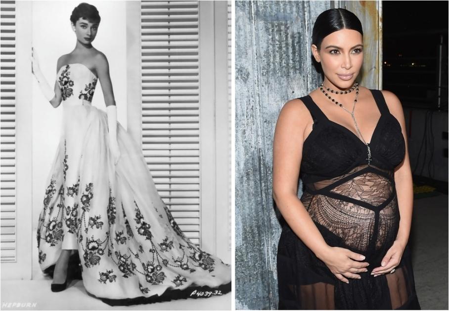 Audrey Hepburn and Kim Kardashian