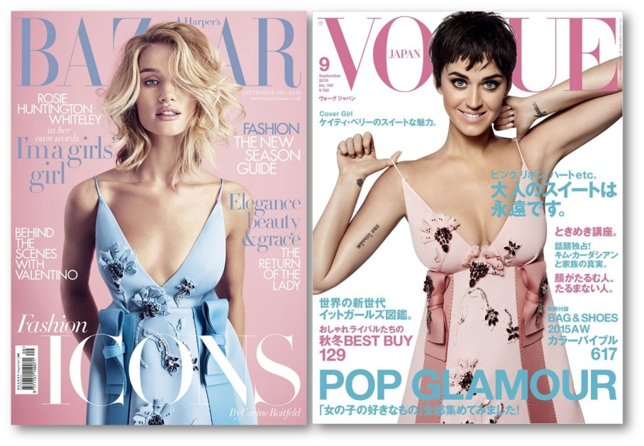 Prada slip dress on mag covers AW 2015