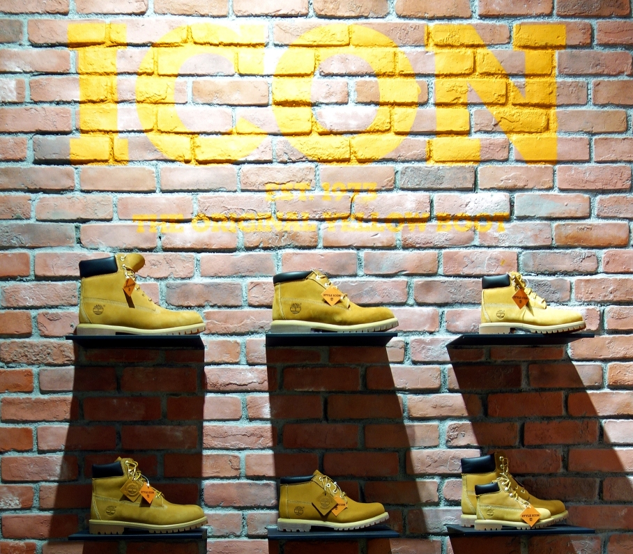 Timberland Yellow Boot wall