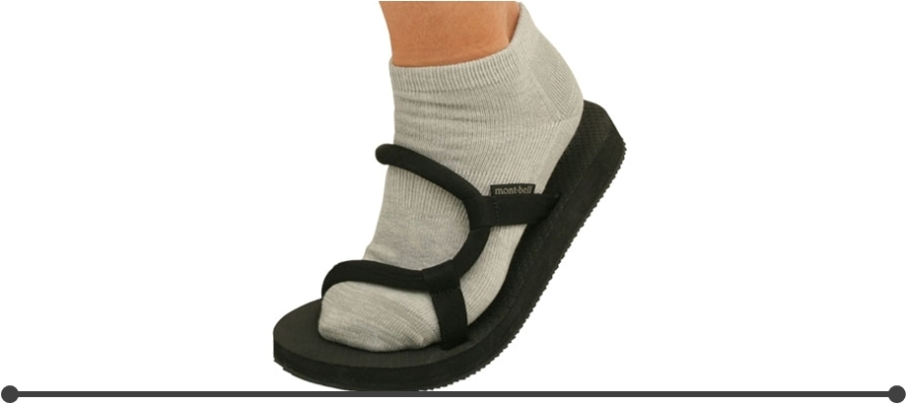 Montbell Sock-On Sandals with socks