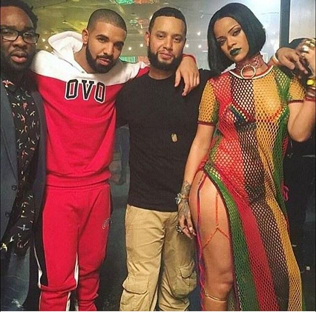 Rihanna and Drake and crew