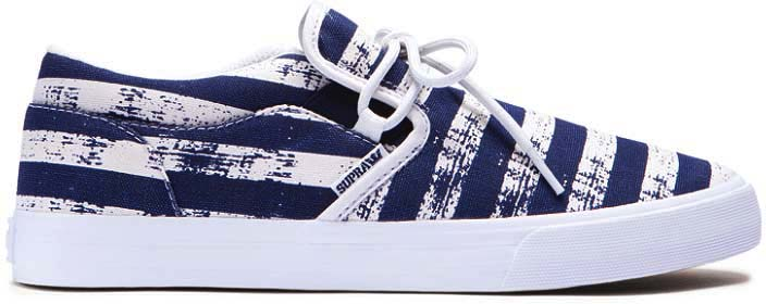 Supra Cuba Navy White Stripes