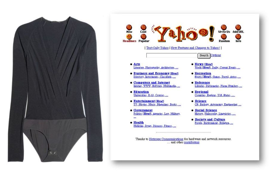 Donna Karan body and Yahoo homepage