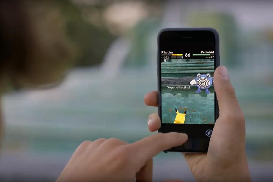 Pokémon Go outdoors 2