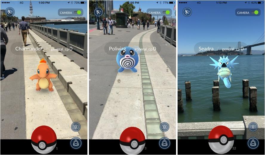 Pokémon Go screen shots