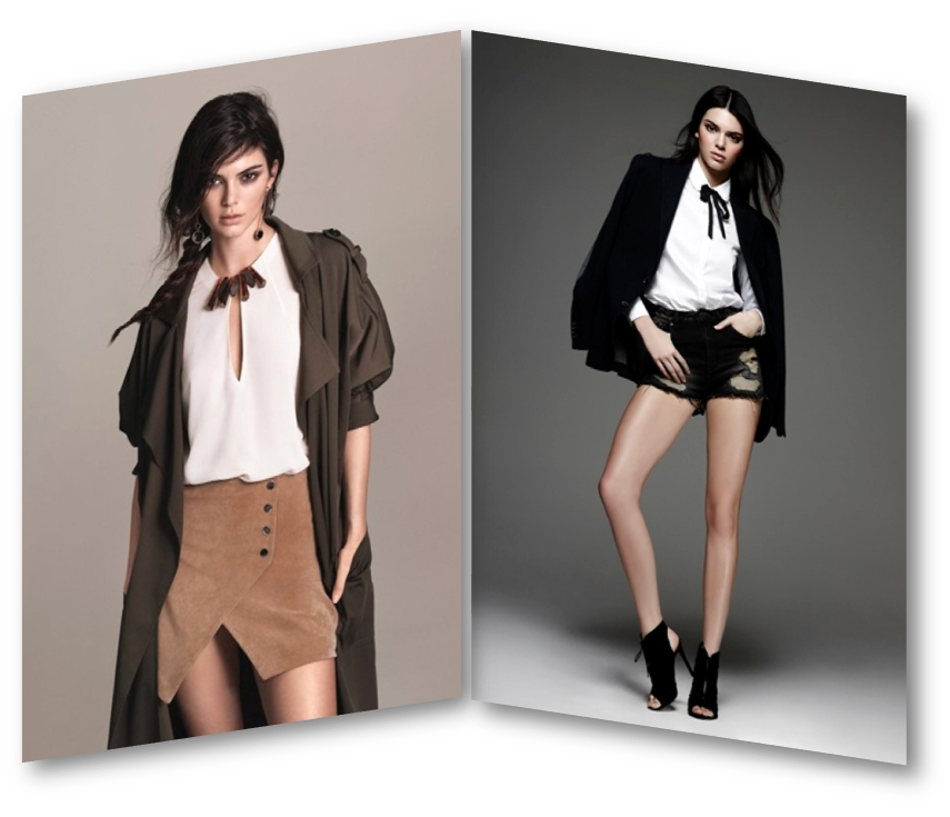 Kendall Jenner for Mango & CPS Chaps SS 2016