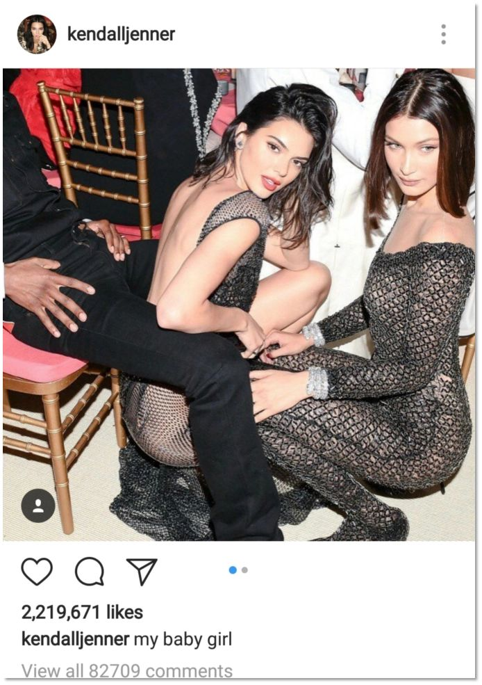Kendall Jenner IG Post