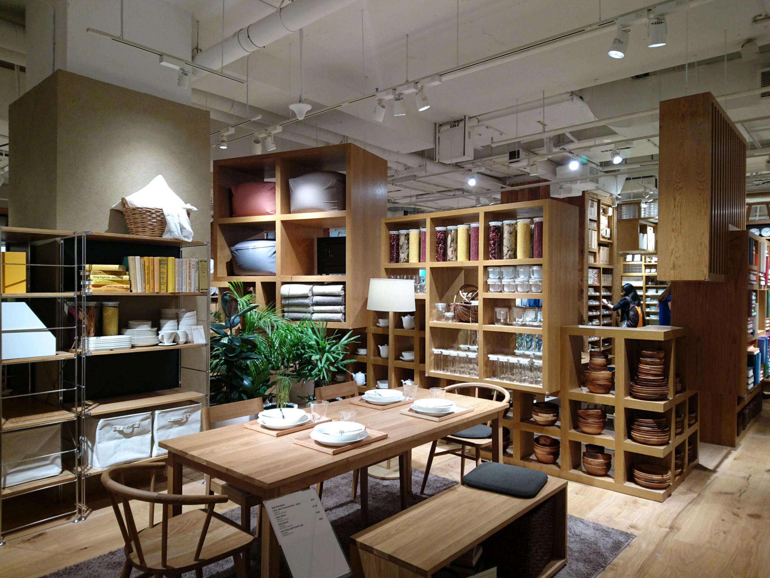 MUJI furniture and furnishing