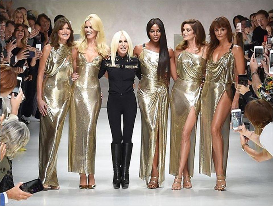 Supermodels @ Versace