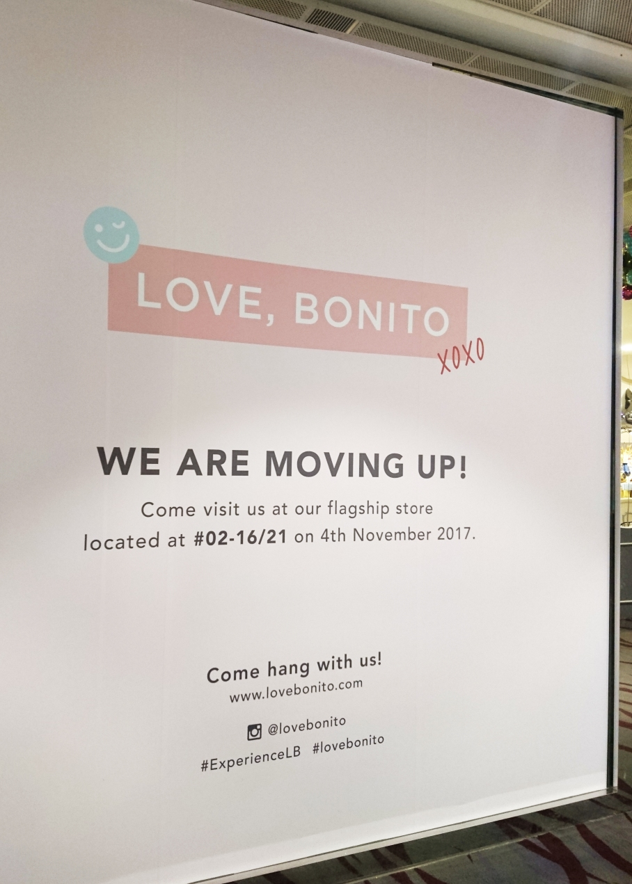 Love Bonito pop-up shop window