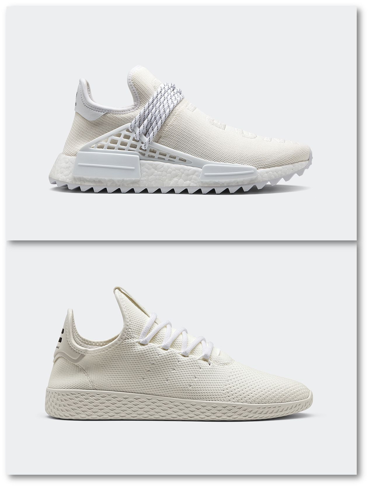 Pharrell Williams X Adidas Hu Holi Blank Canvas sneakers