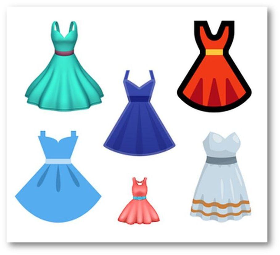 Dress emojis