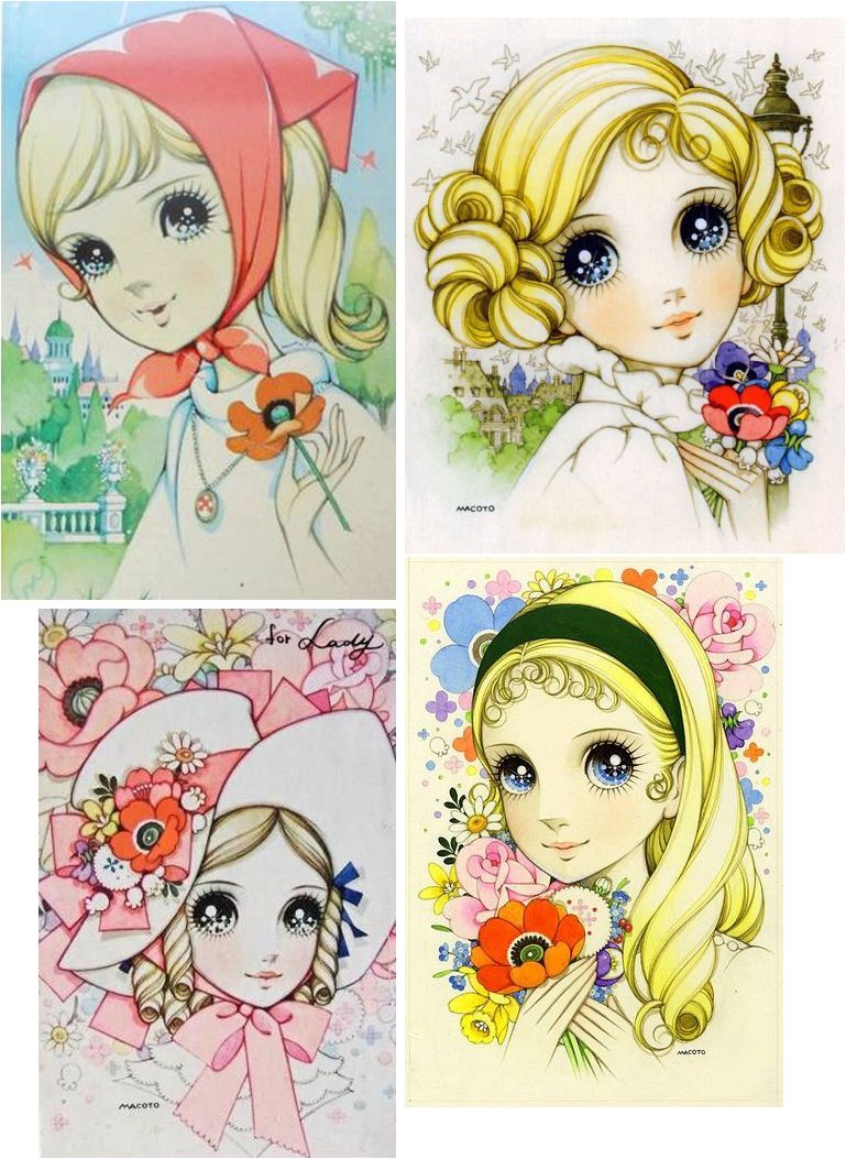 Girls of Colleen coloured pencils
