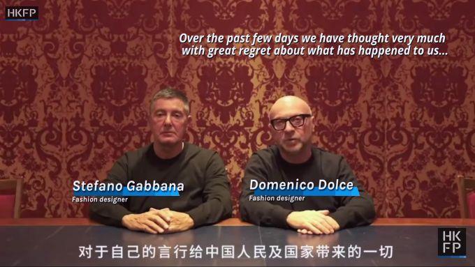 Gabbana & Dolce apologise
