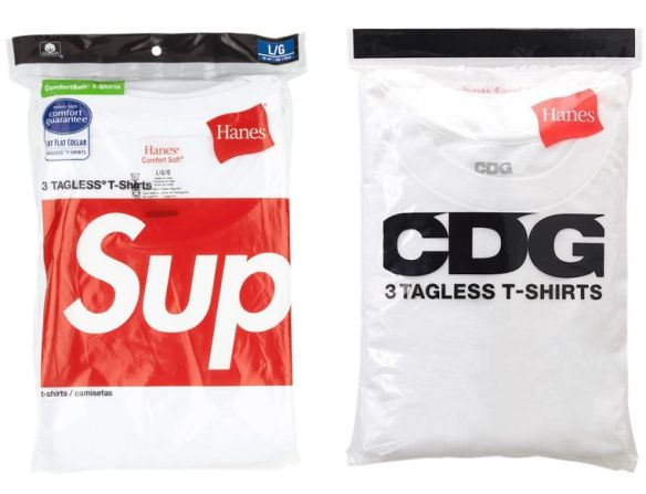 5346a88c CDG, the new sub-brand by Comme des Garçons, is like the streetwear giant  Supreme: heavy on logos. It also shares something in common with the  latter: Hanes ...