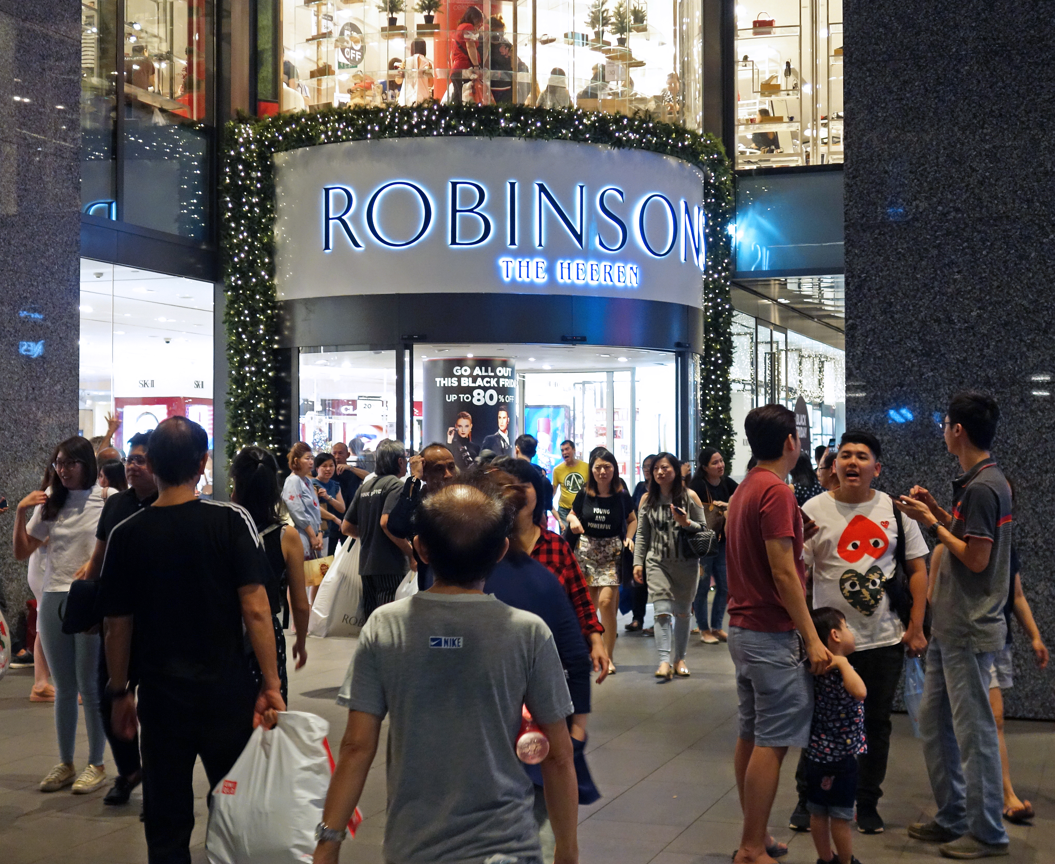 Outside Robinsons on Black Friday