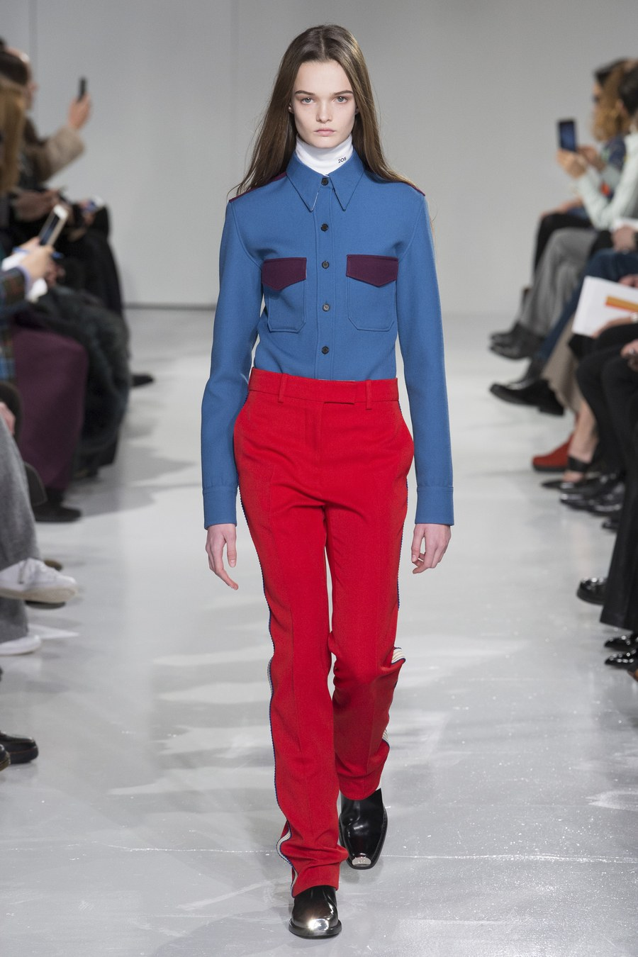 4285dac11a293 The first outfit of the first Calvin Klein collection that Raf Simons  showed back in February last year. Photo: Yannis Vlamos/indigital.tv
