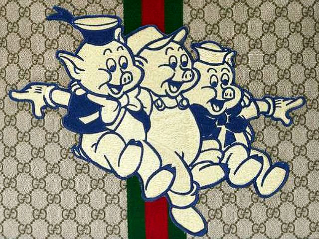 gucci x three little pigs