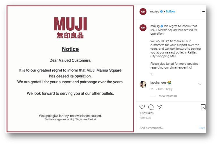 Muji announcement