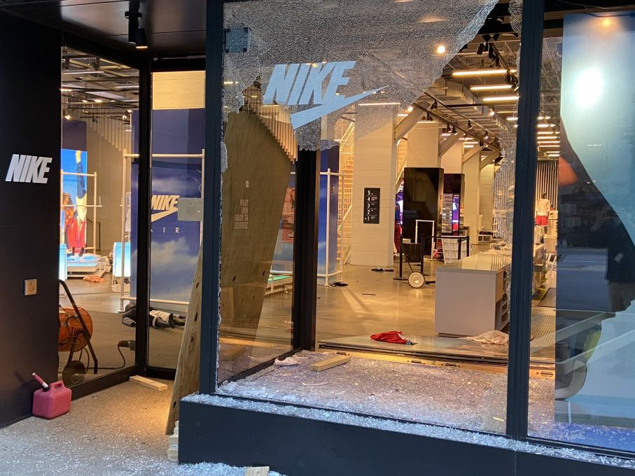 Nike smashed
